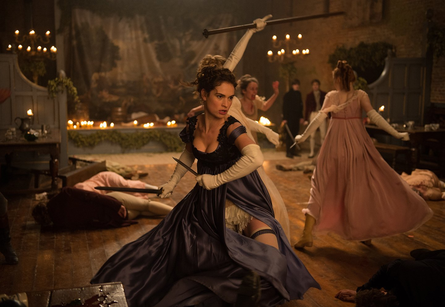 Lily James as Elizabeth Bennet in Pride and Prejudice and Zombies (2016)