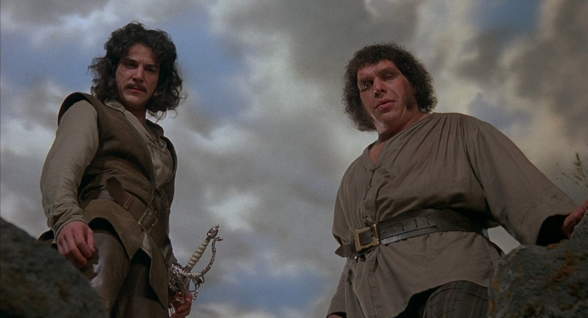 (l to r) Inigo Montoya (Mandy Patinkin) and Fezzik (Andre the Giant) in The Princess Bride (1987)