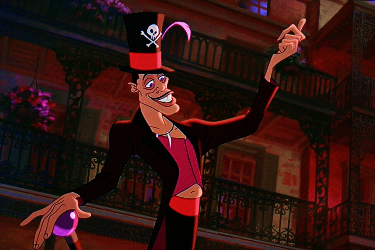 The voodoo houngan Dr Facilier (voiced by Keith David) in The Princess and the Frog (2009)