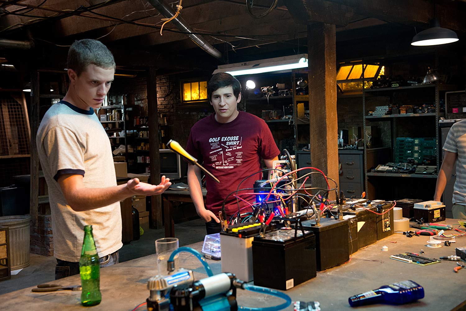 Jonny Weston, Sam Lerner in Project Almanac (2015)