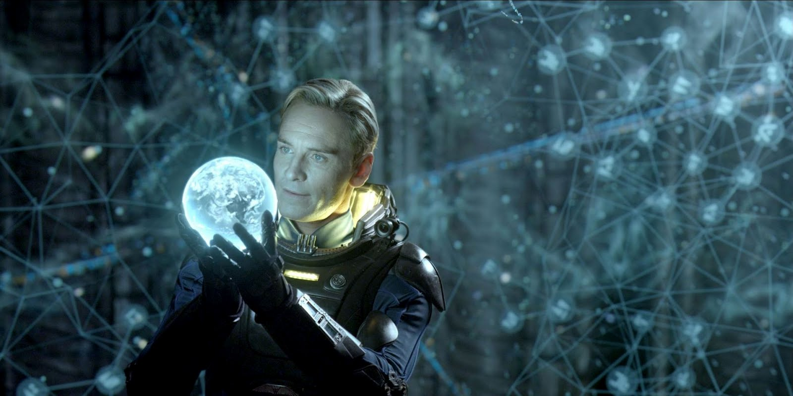 Michael Fassbemder as the android David in Prometheus (2012)