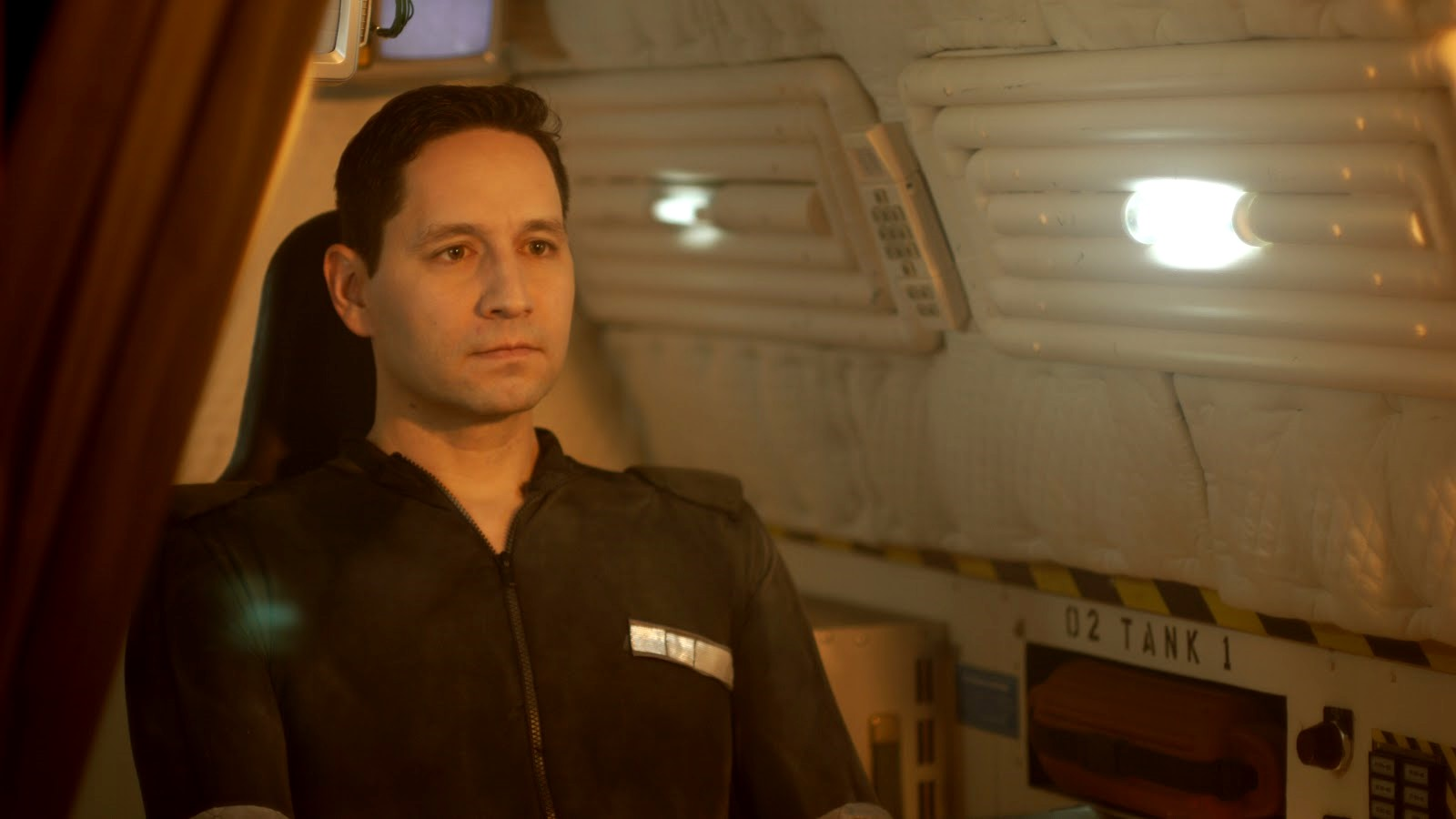 Michael Shattner as the android Finn in Prometheus Trap (2012)