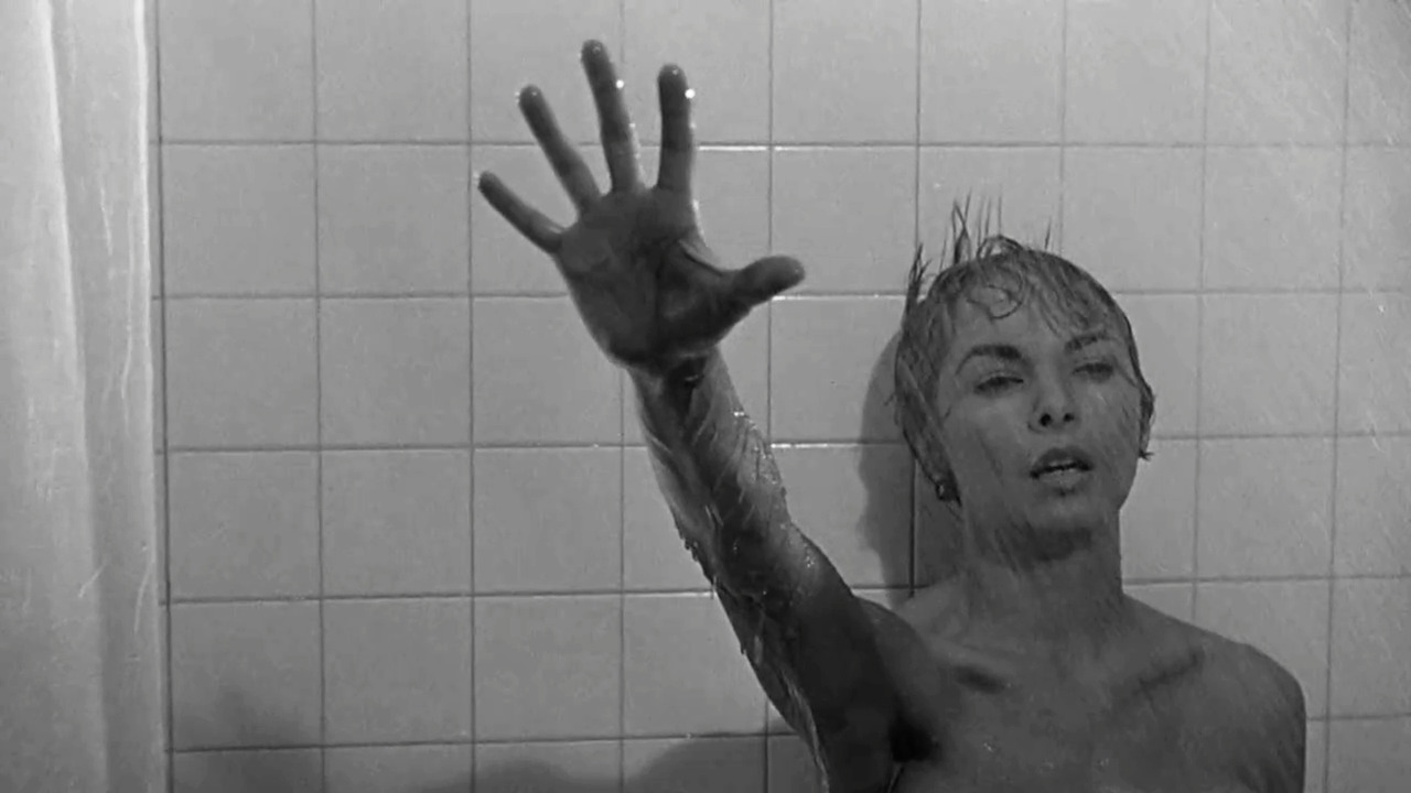 The classic scene - Janet Leigh's last moments in Psycho (1960)