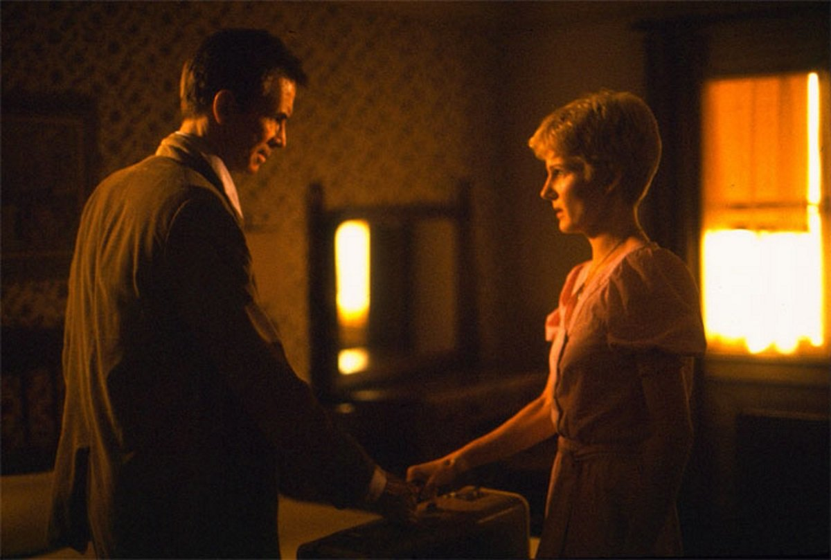 Romance for Norman Bates (Anthony Perkins) in the form of former nun Diana Scarwid in Psycho III (1986)