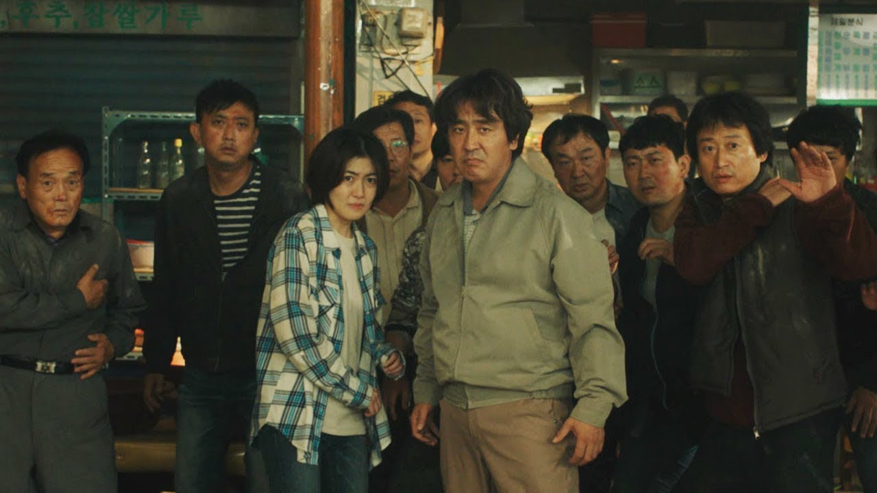 (front) Father Ryu Seung-ryong and daughter Shim Eun-kyung face ruthless developers in Psychokinesis (2018)