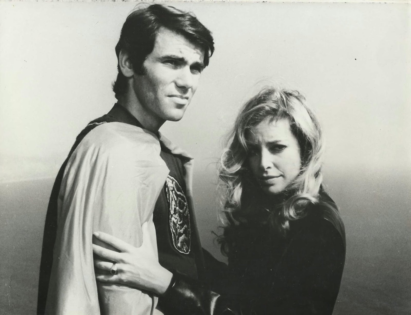 Walter George Alton as The Pumaman with Sydne Rome in The Pumaman (1980)