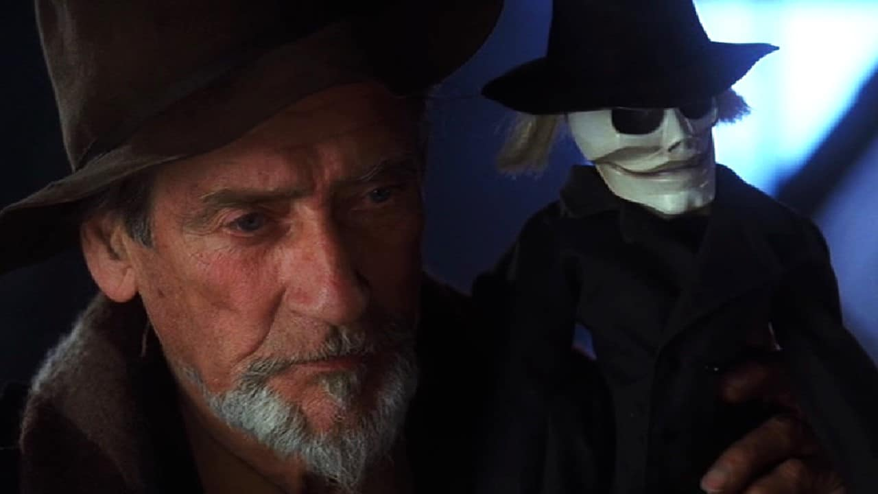 Andre Toulon (Guy Rolfe) with Blade in Puppetmaster III: Toulon's Revenge (1991)
