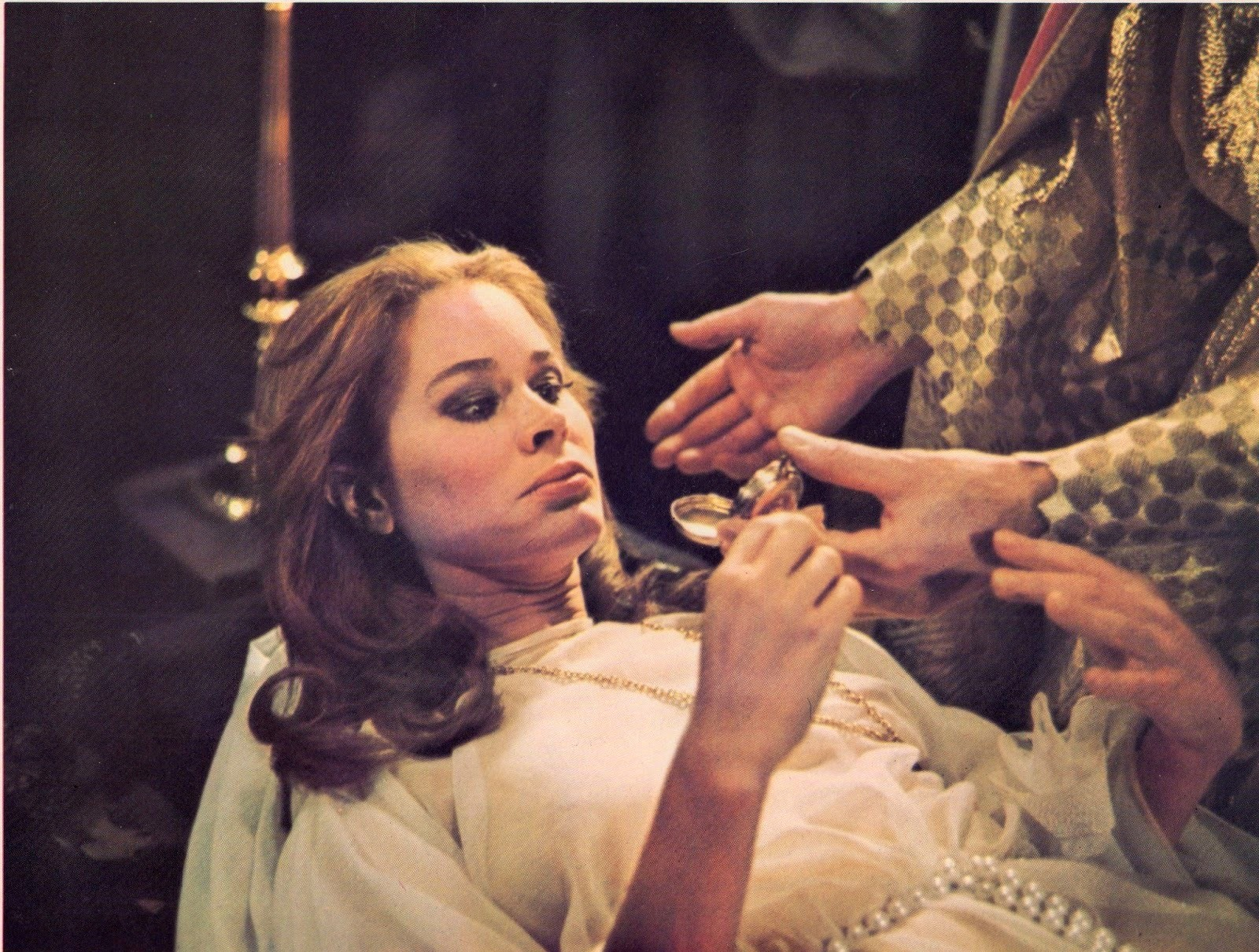 Karen Black in the midst of occult rituals in The Pyx (1973)