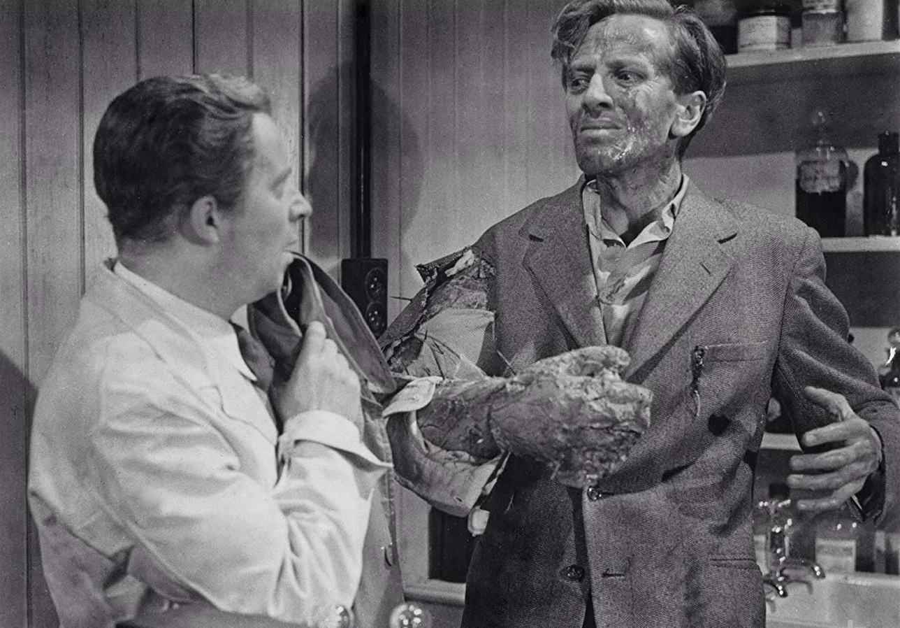 Richard Wordsworth as mutating astronaut Victor Carroon in The Quatermass Xperiment/The Creeping Unknown (1955)