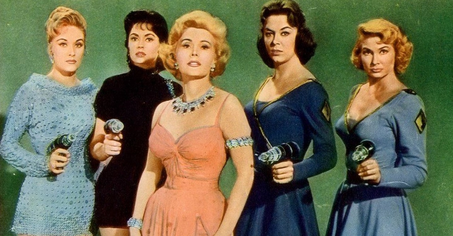 The women of Venus with Zsa Zsa Gabor centre in Queen of Outer Space (1958)