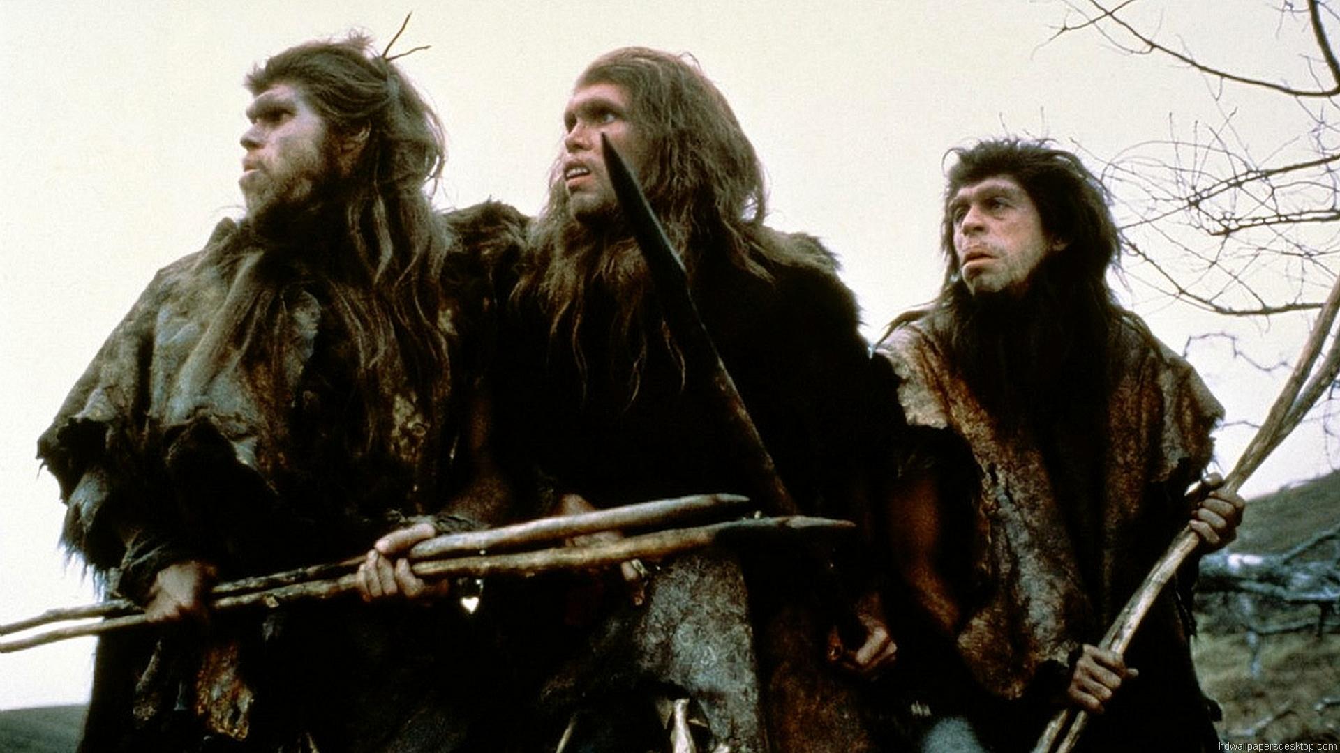 Ron Perlman, Everett McGill, Nameer El Kadi in Quest for Fire (1981)