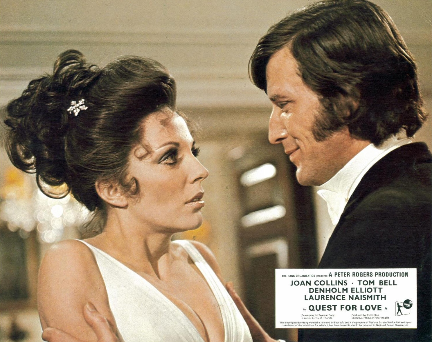 Physicist Tom Bell and his alternate world wife Joan Collins in Quest for Love (1971)