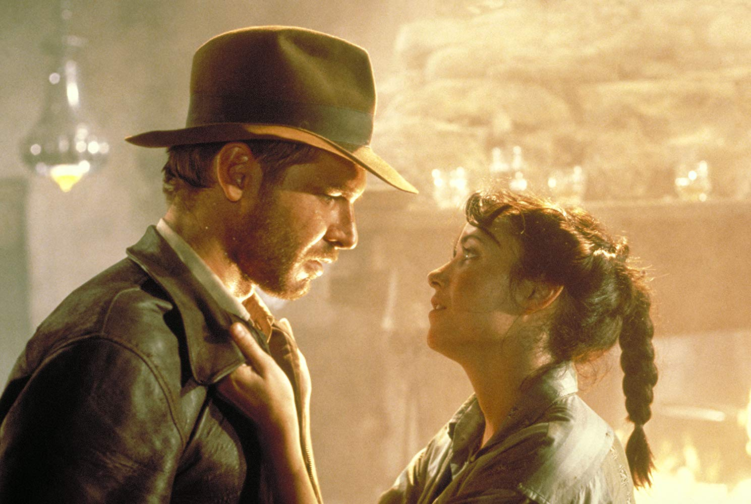 Indiana Jones (Harrison Ford) and Marion Ravenwood (Karen Allen) in Raiders of the Lost Ark (1981)