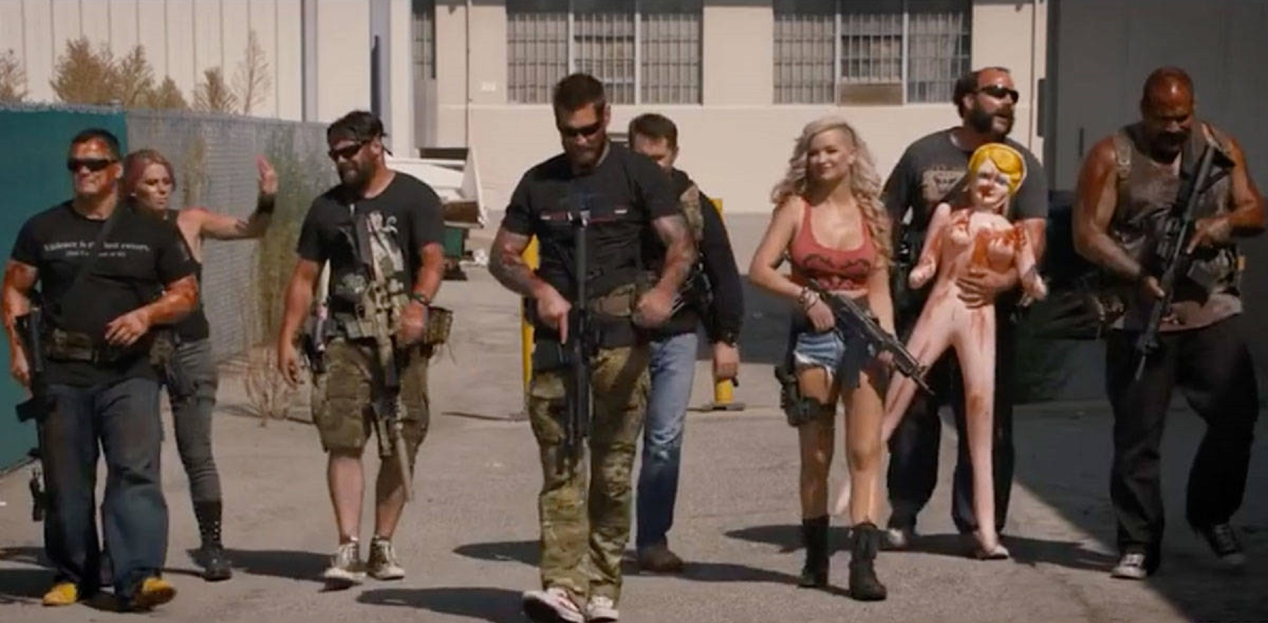 The team head into action in Range 15 (2016)