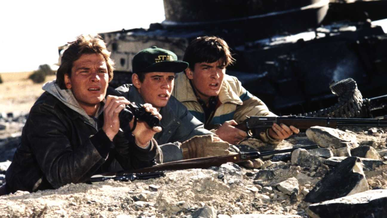 Patrick Swayze, C. Thomas Howell and Charlie Sheen fight a guerilla war in Red Dawn (1984)