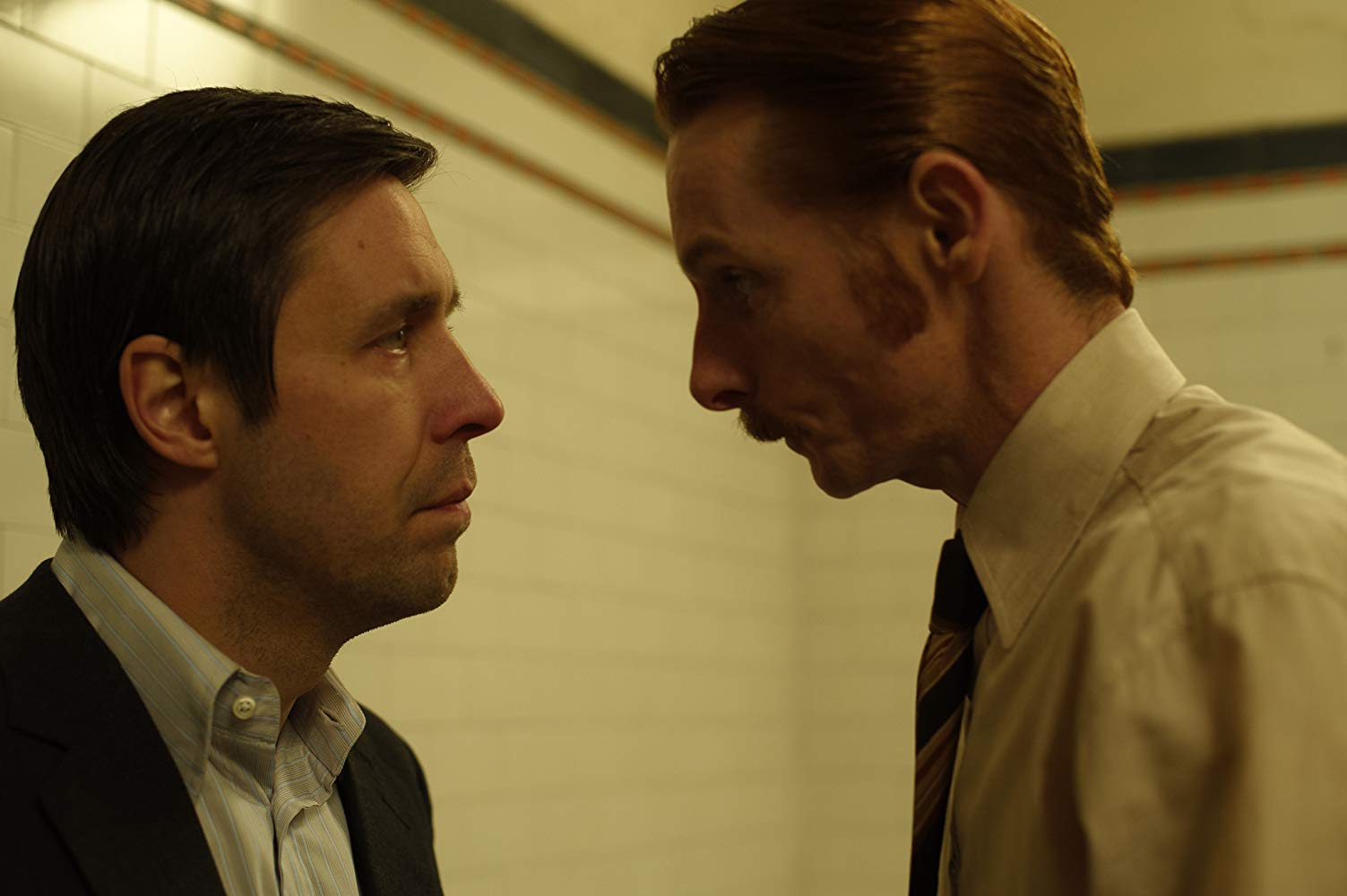 (l to r) Peter Hunter (Paddy Considine) comes up against detective Bob Craven (Sean Harris) as he conducts an inquiry into corruption in the Yorkshire Police Department in Red Riding: In the Year of Our Lord 1980 (2009)