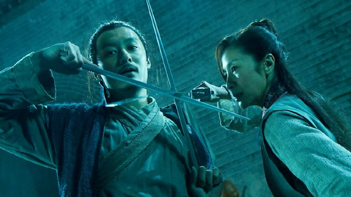 Shawn Yue and Michelle Yeoh in combat in Reign of Assassins (2010)