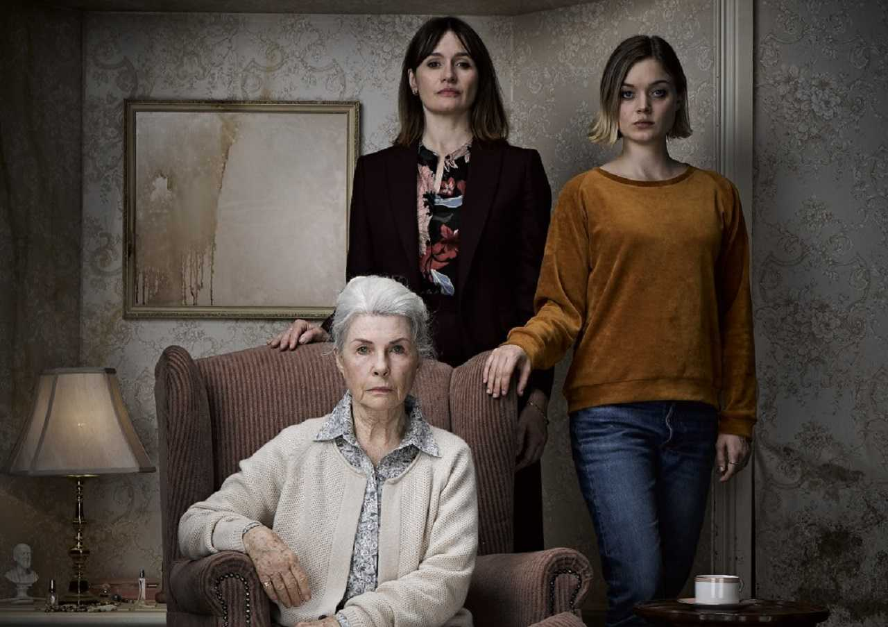 Grandmother Robyn Nevin, mother Emily Mortimer and daughter Bella Heathcote in Relic (2020)