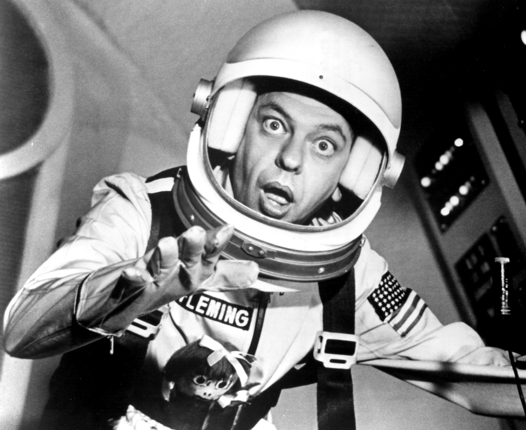 Don Knotts in space in The Reluctant Astronaut (1967)