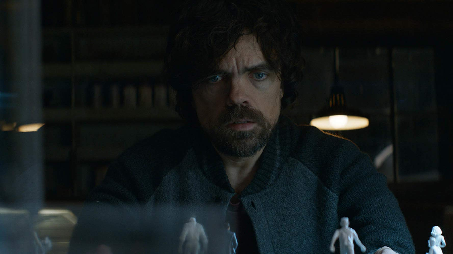 Peter Dinklage pieces the mystery together using miniature figures in Rememory (2017)
