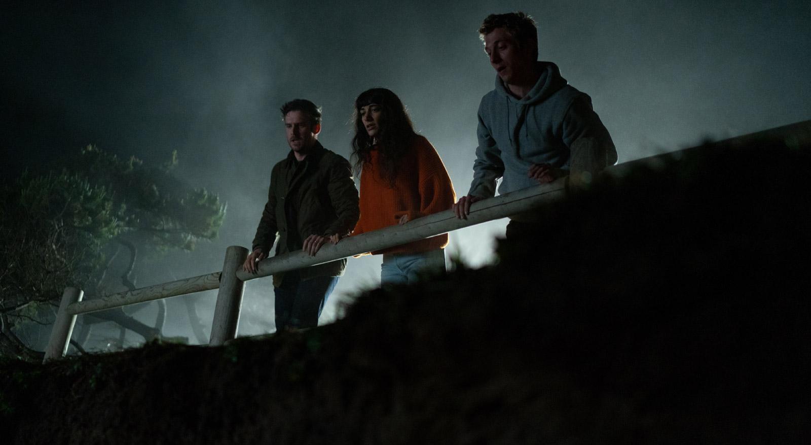 Dan Stevens, Sheila Vand and Jeremy Allen White in The Rental (2020)