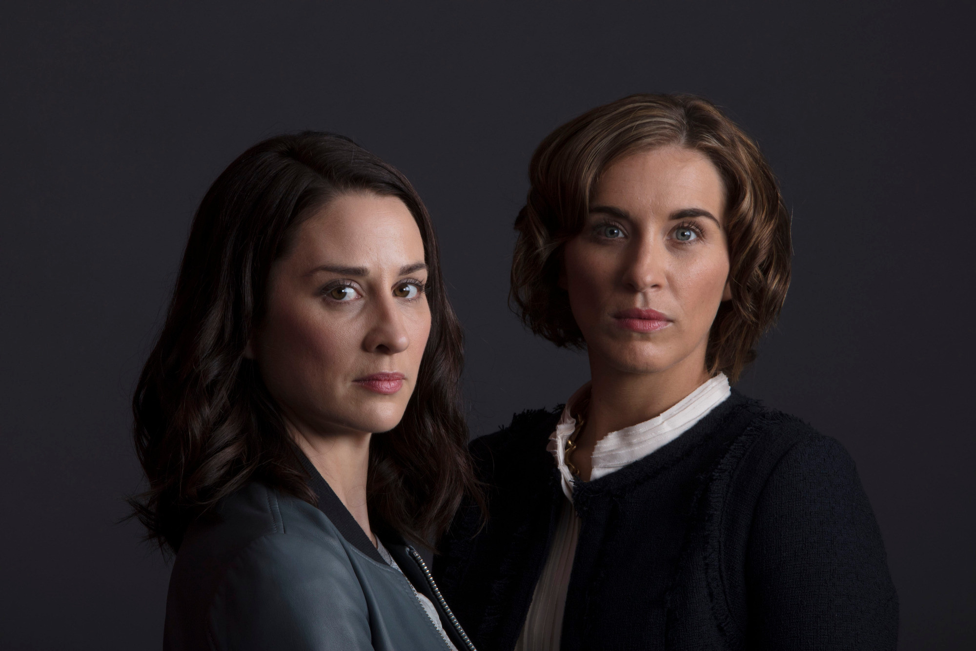 Morven Christie and her psychopathic replacement Vicky McClure in The Replacement (2017)
