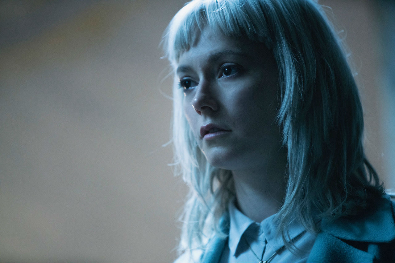Lydia Wilson as Matilda Gray, discovering her past as an abducted child in Requiem (2018)