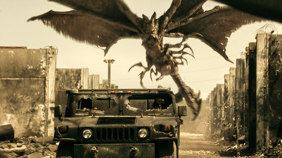 Humvee vs mutant pterodactyl in Resident Evil: The Final Chapter (2016)