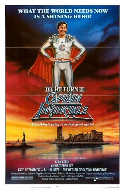 The Return of Captain Invincible (1983) poster