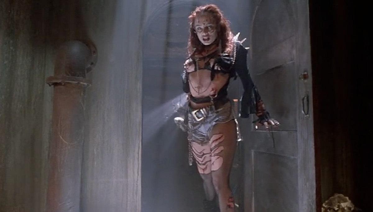 Mindy Clarke as the zombie girlfriend in Return of the Living Dead III (1993)