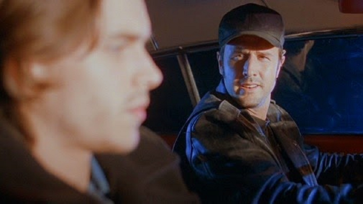 Joshua Jackson hitches a ride with an undead David Arquette in Riding the Bullet (2004)