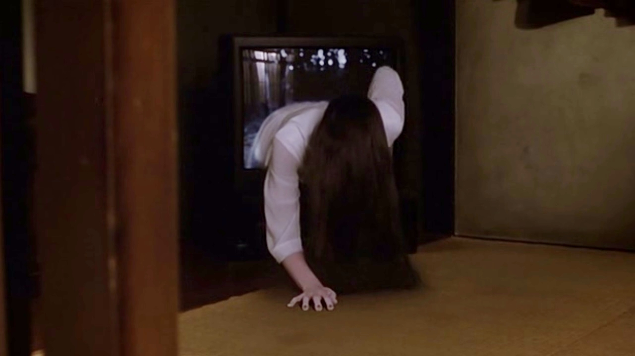 Sadako emerges from the tv in Ring (1998)