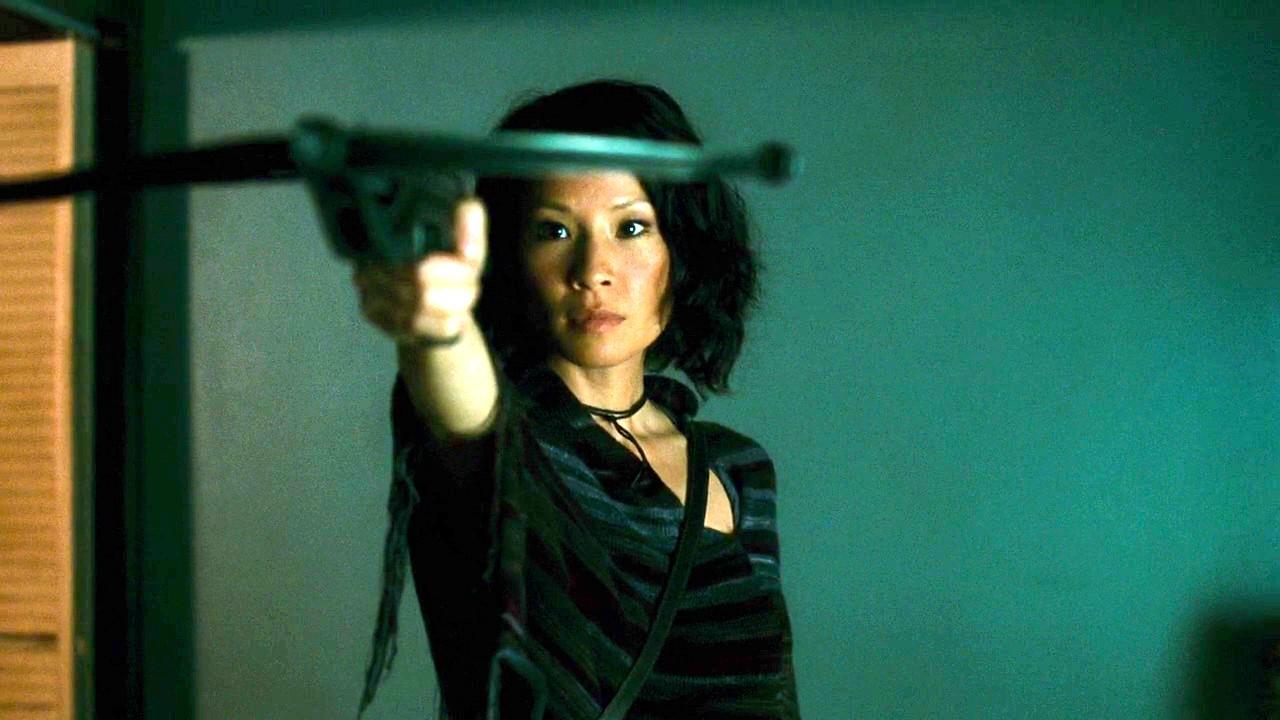 Lucy Liu vampire hunter in Rise (2007)