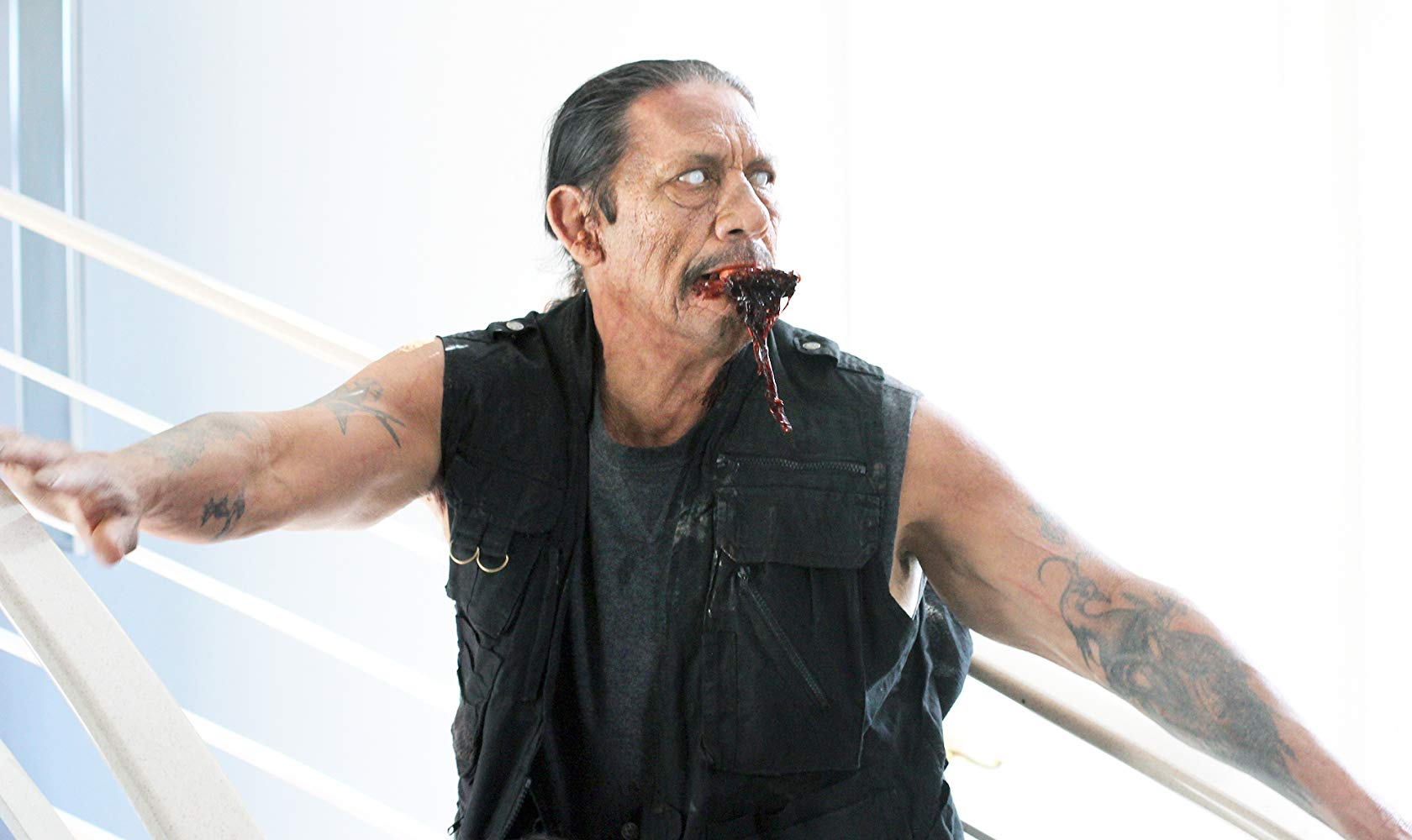 A zombified Danny Trejo in Rise of the Zombies (2012)