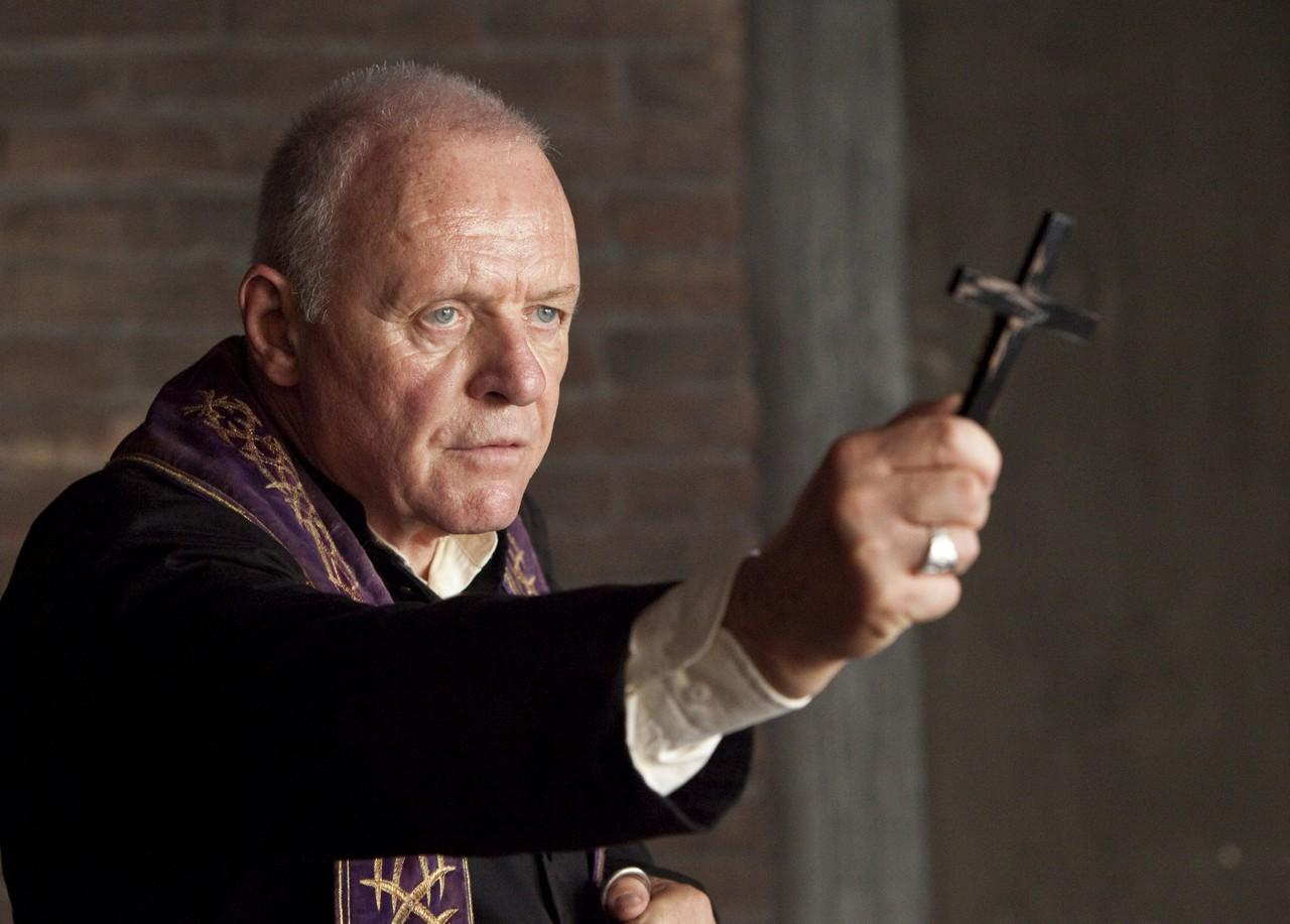 Anthony Hopkins as exorcist Father Lucas Trevant in The Rite (2011)
