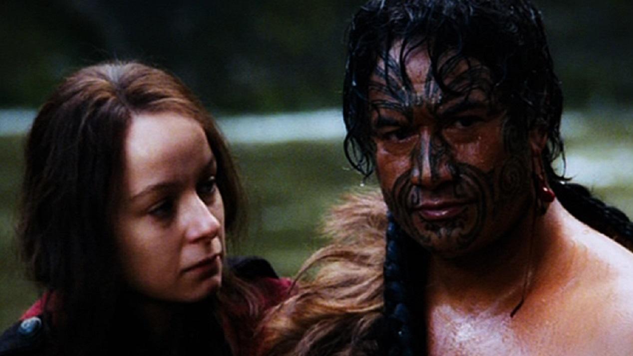 Samantha Morton and Maori chief Te Kai Po (Temuera Morrison) in River Queen (2005)