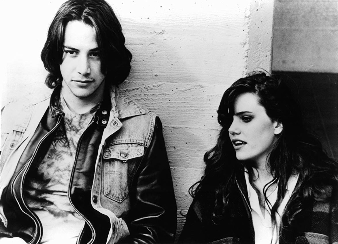 Keanu Reeves and Ione Skye in River's Edge (1986)