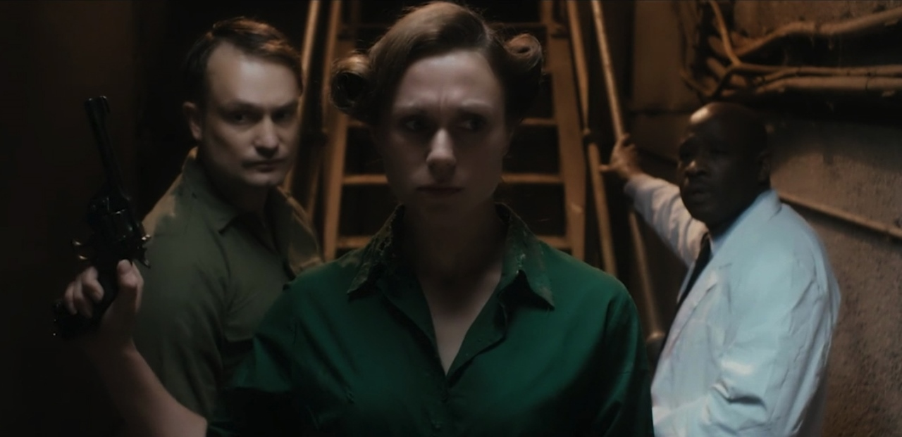 Patrick Knowles, Laura Swift and Christopher Takagh in The Rizen (2017)