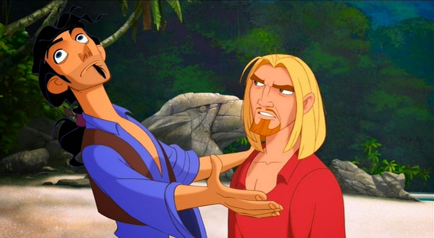 (l to r) Spanish rogues Tulio (voiced by Kevin Kline) and Miguel (voiced by Kenneth Branagh) in The Road to El Dorado (2000)