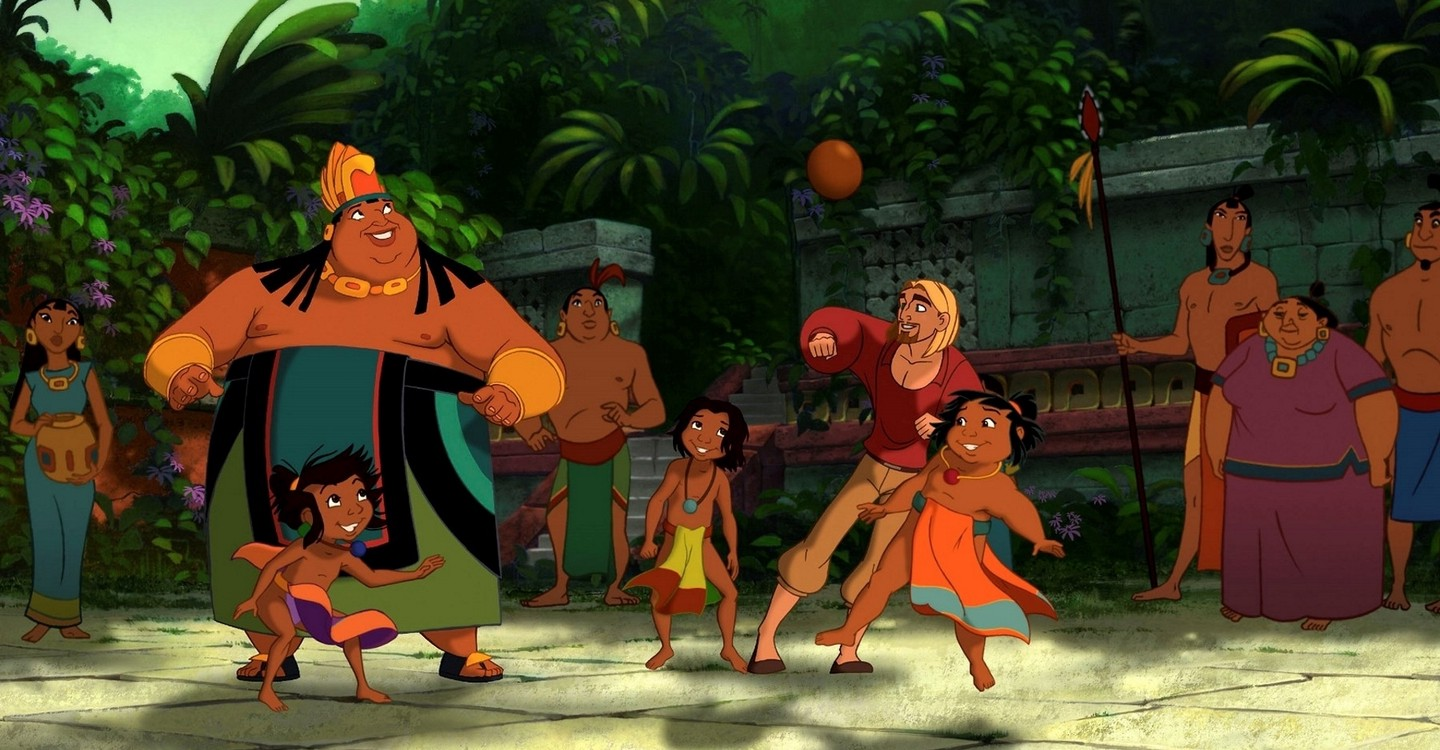 A family friendly version of Aztec culture - here in the midst of a game of soccer in The Road to El Dorado (2000)