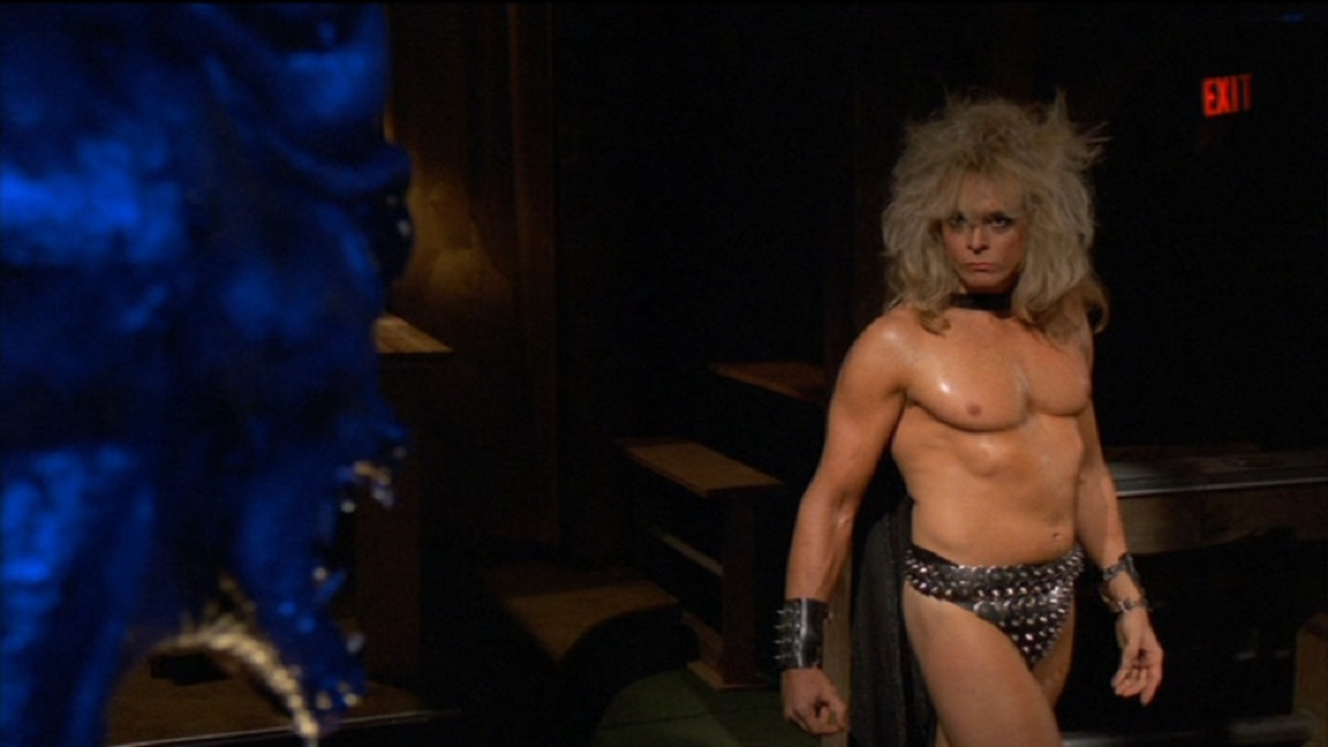 Jon-Mikl Thor as The Intercessor fights The Devil in Rock;n;Roll Nightmare (1987)