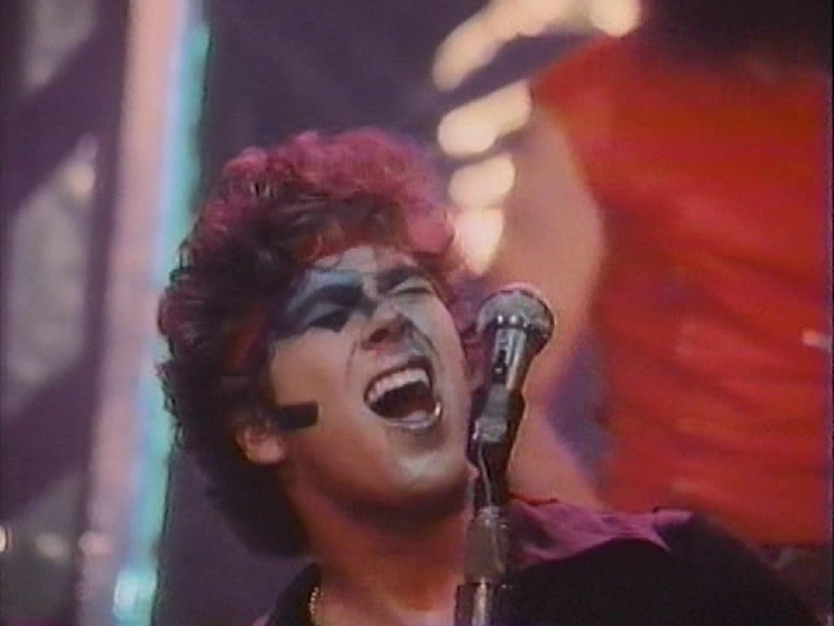 Tray Loren as resurrected rocker Billy Eye Harper in Rocktober Blood (1984)
