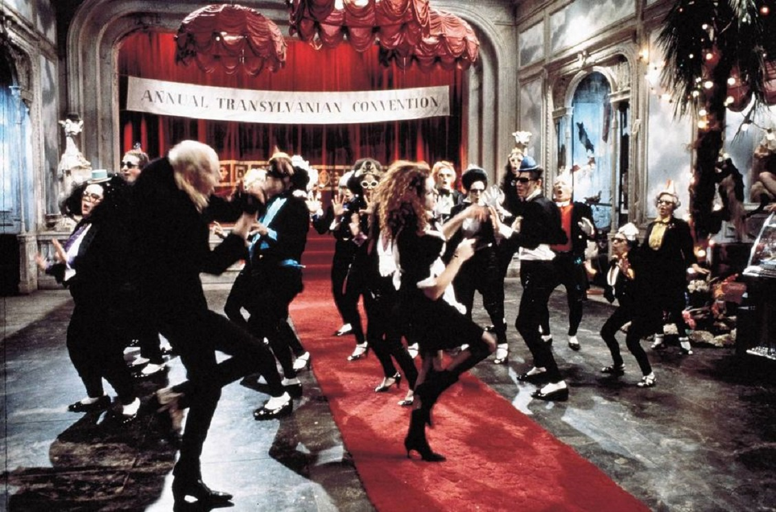 The film's anthemic number the Time Warp in The Rocky Horror Picture Show (1975)