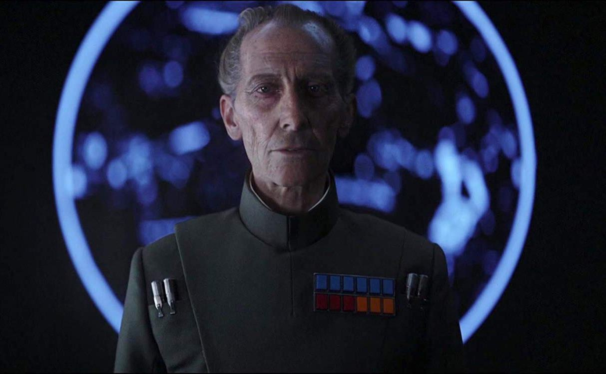 A digitally recreated Peter Cushing in Rogue One (2016)