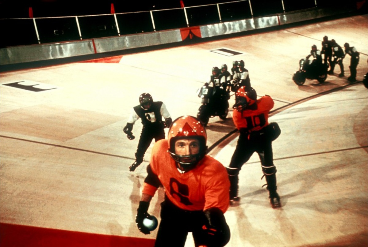 James Caan leads the Houston team in Rollerball (1975)