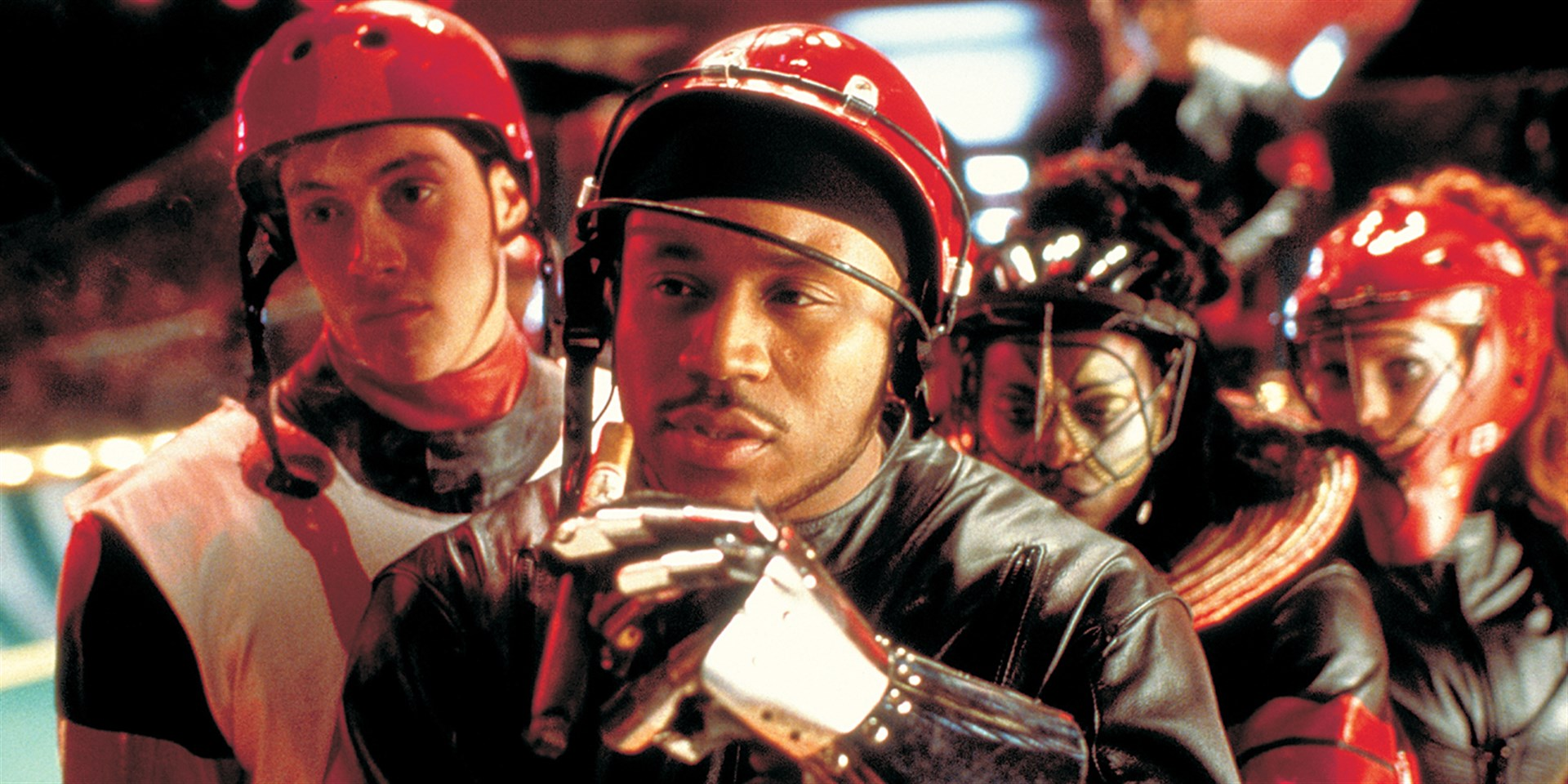 Chris Klein and Ll Cool J in Rollerball (2002)