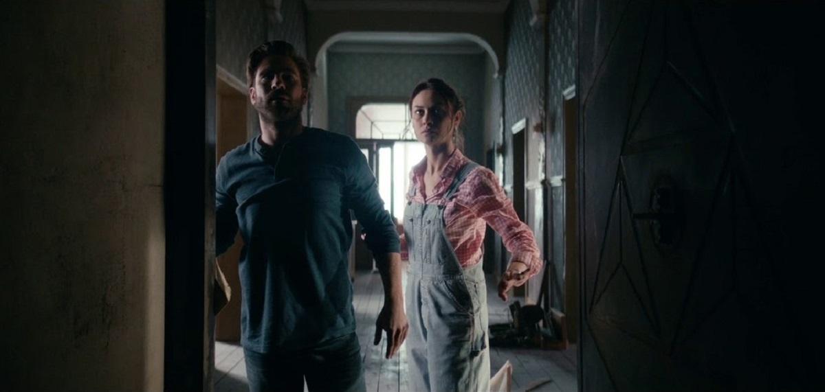 Kevin Janssens and Olga Kurylenko enter The Room (2019)
