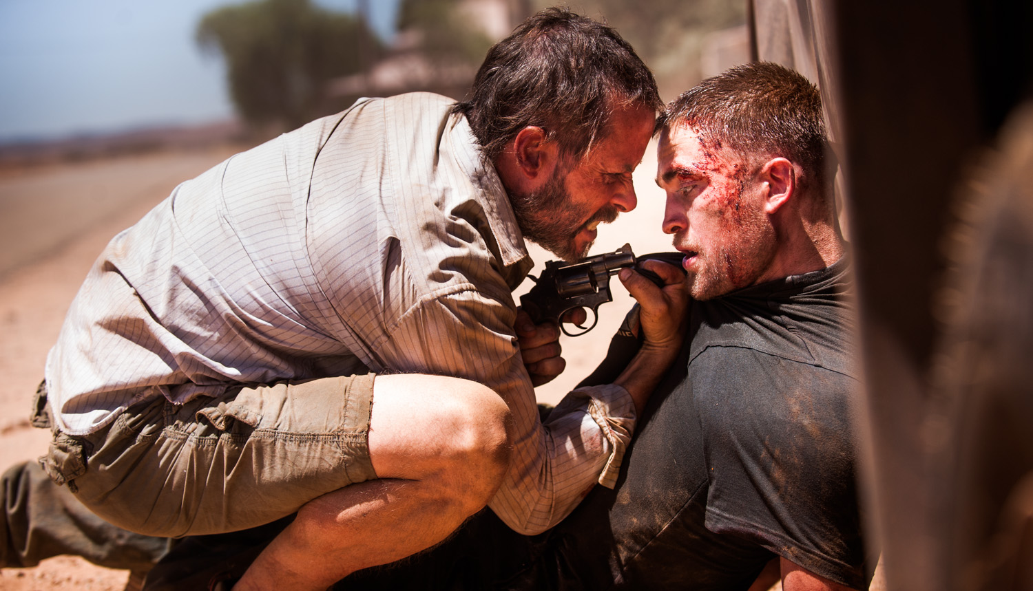 Guy Pearce and Robert Pattinson in The Rover (2014)
