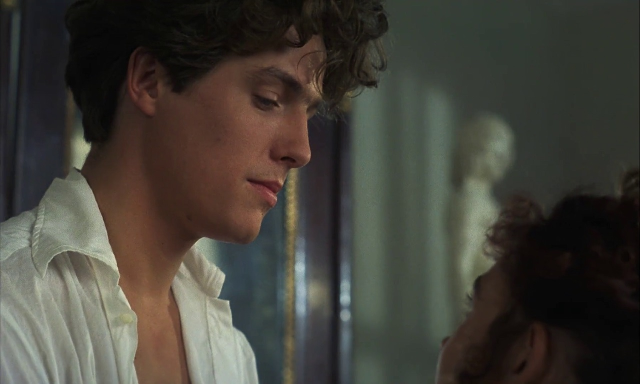 Hugh Grant as Lord Byron in Rowing with the Wind (1988)