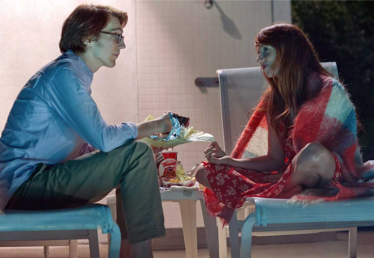 Quirky romance between writer Paul Dano and his fictional creation Zoe Kazan in Ruby Sparks (2012)